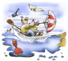 Cartoon: umbrella sailing (small) by HSB-Cartoon tagged sailing,sailor,sailboat,boat,ship,dinghy,boje,water,sea,ocean,umbrella,seagull,boot,ruderboot,segeln,segelschiff,segelboot,schirm,regenschirm,meer,ozean,bootstour,ausflug,seemann