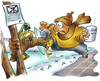 Cartoon: Winterschlaf (small) by HSB-Cartoon tagged natur,winter,winterlandschaft,winterruhe,schnee,eis,schlittschuhlaufen,schlittschuh,cartoon,karikatur,airbrush,airbrushzeichnung