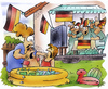 Cartoon: WM daheim (small) by HSB-Cartoon tagged wm,wm2010,worldchampionship,tv,fernseh,fernsehübertragung,fan,deutschland,germany,südafrika,argentinien,pool,swimmingpool,garten,endspiel,kinder,eltern,vater,mutter,sommer,getränke,bier,airbrush,cartoon,karikatur