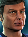 Cartoon: DeForest Kelley - McCoy (small) by Cartoonfix tagged deforest,kelley,mccoy,star,trek