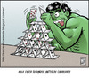Cartoon: be careful (small) by Wadalupe tagged hulk,comic,angry,cartoon,hobby,relax