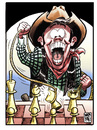 Cartoon: Chess rodeo (small) by Wadalupe tagged ajedrez,dibujo,humor