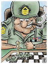 Cartoon: no pasaran (small) by Wadalupe tagged ajedrez,militar,sargento,tablero,juego,estrategia,tactica,tanques