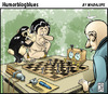 Cartoon: tarzan juega con ventaja (small) by Wadalupe tagged tarcan,chita,cheetah,jane,chess,ajedrez,deporte,tongo