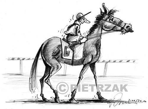 Cartoon: New Jockey (medium) by Darek Pietrzak tagged caricature