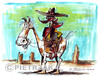Cartoon: Cowboy (small) by Darek Pietrzak tagged illustration