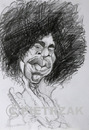 Cartoon: Jimmy Hendrix 1 (small) by Darek Pietrzak tagged hendrix jimmy caricature rock
