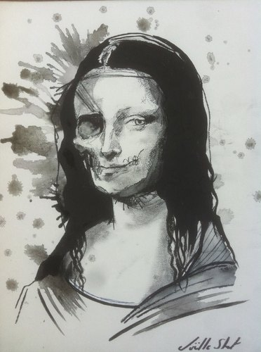 Cartoon: Zombie Lisa (medium) by joellestoret tagged zombies,mona,lisa,renaissance