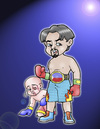 Cartoon: the filipino fighter (small) by jayson arellano tagged boxer
