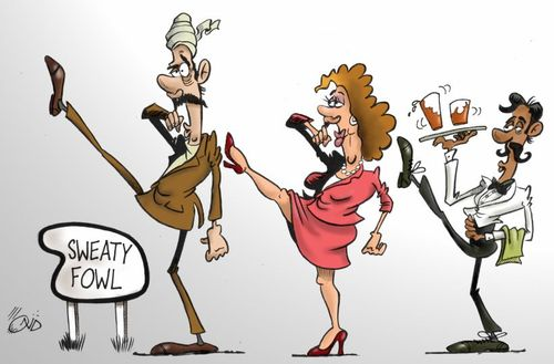 Cartoon: Fawlty towers (medium) by campbell tagged fawlty,towers,john,cleese