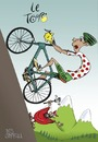 Cartoon: Climb every mountain (small) by campbell tagged tour,de,france,sport,cycling,devil,mountains