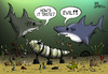 Cartoon: Osama Bin fishfood (small) by campbell tagged osama,bin,laden,terrorist,sharks,burial