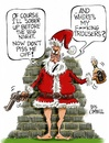 Cartoon: Secret Santa (small) by campbell tagged father,christmas,santa,claus,drunk,festive