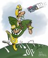 Cartoon: Superduperbowl XLV (small) by campbell tagged sport,green,bay,packers,super,bowl,american,football