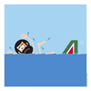 Cartoon: Alitalia (small) by Giuseppe Scapigliati tagged logos,alitalia