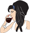 Cartoon: wine (small) by caminante tagged amy,winehouse