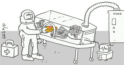 Cartoon: Ebola (medium) by yasar kemal turan tagged ebola
