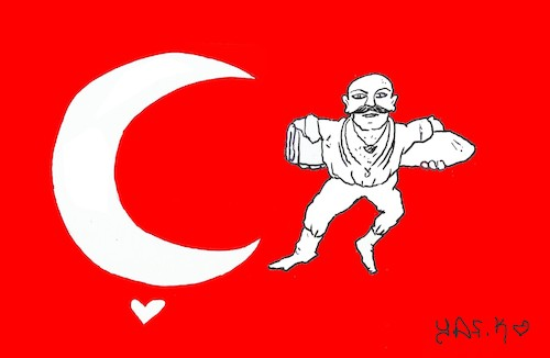 Cartoon: zafer (medium) by yasar kemal turan tagged zafer