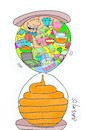 Cartoon: Absorbation (small) by yasar kemal turan tagged absorbation