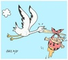 Cartoon: ahhhgh (small) by yasar kemal turan tagged baby,stork,pee,love