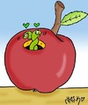 Cartoon: Apple has established (small) by yasar kemal turan tagged apple has established