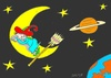 Cartoon: break (small) by yasar kemal turan tagged break witch moon
