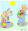 Cartoon: Picasso-cubic ice cream (small) by yasar kemal turan tagged pablo,picasso,ice,cream