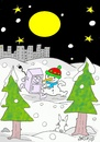 Cartoon: escape city (small) by yasar kemal turan tagged escape city refrigerator love snowman nature
