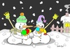 Cartoon: full time (small) by yasar kemal turan tagged full time love ice cream snowman