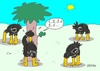 Cartoon: hide and seek (small) by yasar kemal turan tagged hide,and,seek,ostrich