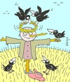 Cartoon: honor (small) by yasar kemal turan tagged honor love crow railing crown