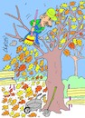 Cartoon: leaf love (small) by yasar kemal turan tagged leaf,love