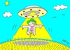Cartoon: liberation (small) by yasar kemal turan tagged liberation railing ufo