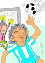 Cartoon: Maradona (small) by yasar kemal turan tagged maradona