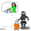 Cartoon: my mothers handed (small) by yasar kemal turan tagged my,mother