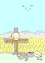 Cartoon: sacrificed-disappearance (small) by yasar kemal turan tagged disappearance railing love