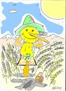 Cartoon: scarecrow (small) by yasar kemal turan tagged scarecrow field sun oil