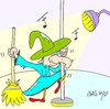 Cartoon: striptease (small) by yasar kemal turan tagged striptease witch