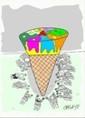 Cartoon: ..natural ? (small) by yasar kemal turan tagged sweetener,unnatural,trans,fat,ice,cream