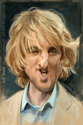 Cartoon: Owen Wilson (medium) by Jeff Stahl tagged owen,wilson,caricature,stahl