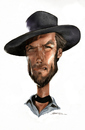 Cartoon: Clint Eastwood (small) by Jeff Stahl tagged clint eastwood cowboy good western