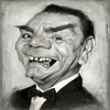 Cartoon: Ernest Borgnine 1917-2012 (small) by Jeff Stahl tagged ernest borgnine actor hollywood star caricature illustration eyebrows jeff stahl freelance