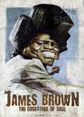 Cartoon: James Brown by Jeff Stahl (small) by Jeff Stahl tagged james brown soul music singer vintage poster illustration caricature jeff stahl