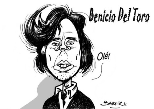 Cartoon: Benicio del Toro (medium) by Bartik tagged dessins,bartik,caricature,acteur,americain,benicio,del,toro,cinema