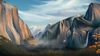 Cartoon: Yosemite (small) by alesza tagged yosemite,national,park,autumn,nature,painting,drawing,photoshop,environment