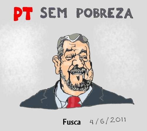 Cartoon: Brazilian ruling party PT (medium) by Fusca tagged totalitarism,dilma,lula,palocci,pt,brazil,corruption