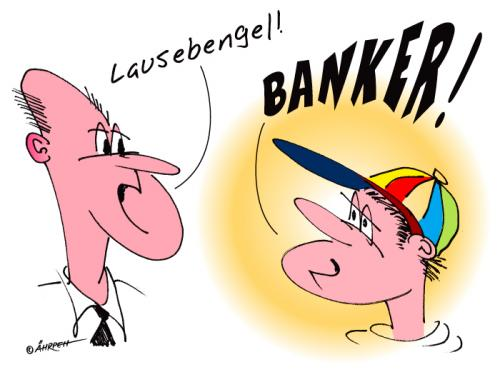Cartoon: Neulich auf der Straße (medium) by rpeter tagged bank,banken,boerse,banker