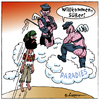 Cartoon: Dumm gelaufen (small) by rpeter tagged sex,selbstmordattentäter,paradies,gay,bombe,koran,prophet