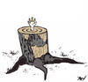 Cartoon: Tree (small) by Monica Zanet tagged zanet environment nature