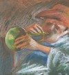 Cartoon: Music (small) by boa tagged painting,color,oil,boa,romania,painter,landscape